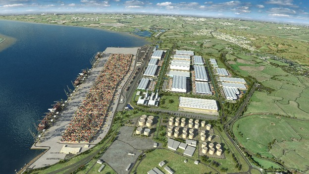 Artist's impression of the completed London Gateway