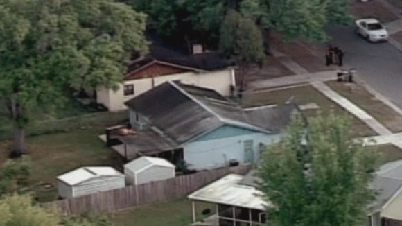 The home in Seffner, Florida , under which the sinkhole opened.