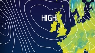 High pressure is keeping it fairly settled