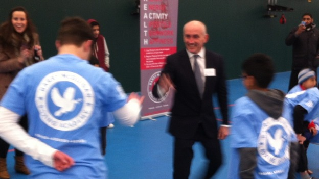 Barry McGuigan at the launch this morning
