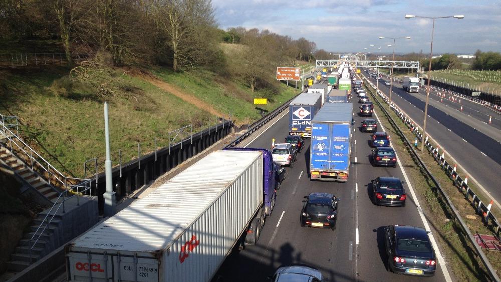 Delays On M1 After Crash Involving Three Lorries Anglia
