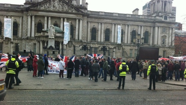 Peaceful protests in Belfast