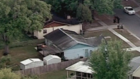 The house in Tampa, Florida where Jeff Bush was sucked into the hole