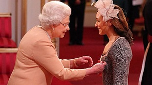 Jessica Ennis receives her Commander of the British Empire (CBE) medal