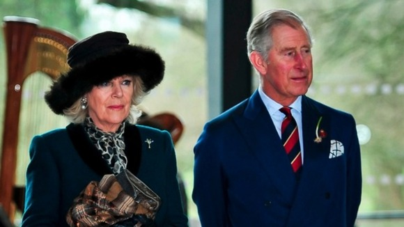 The Duchess of Cornwall and Prince Charles in Cardiff on Friday