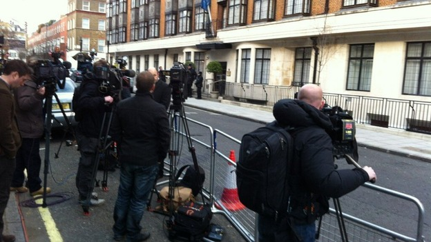 Cameras outside King Edward VII Hospital 