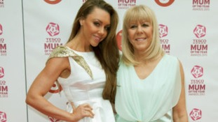 Michelle Heaton and her mother arriving at the Tesco Mum of the Year Awards 2013,