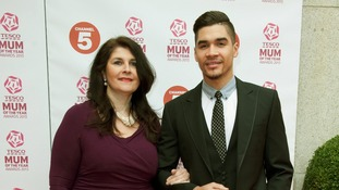 Louis Smith and his mum at the awards