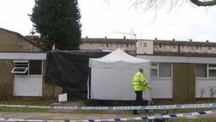 Police at the scene in Hemel Hempstead
