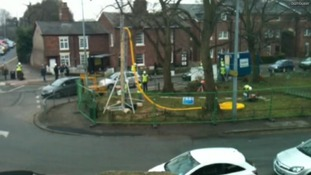 Knutsford village green, where the fracking stunt is taking place.
