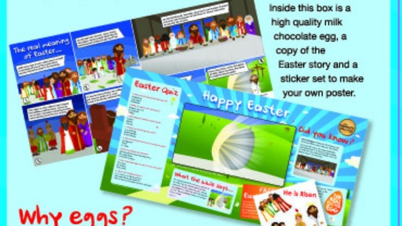 The back of the box which shows the story of Easter