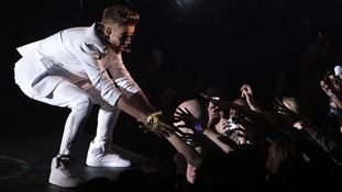 Justin Bieber greeted fans