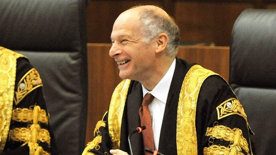The UK's most senior judge, Lord Neuberger, President of the Supreme Court, in his robes.