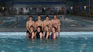 Channel swim team