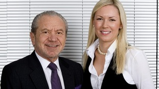 Stella English and Lord Sugar