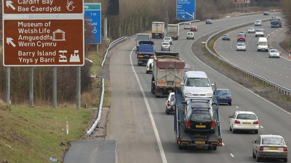 M4 near Cardiff