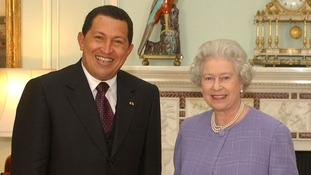 The Queen receives President Hugo Chavez at Buckingham Palace in 2001