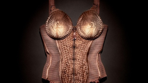 The body corset worn by Madonna on the Blond Ambition Tour in 1990
