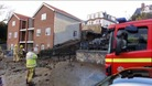 Mudslide in Gorleston near Great Yarmouth