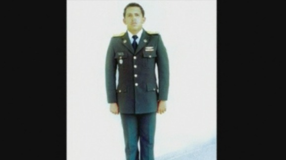 Hugo Chavez as a Lieutenant at the Military Academy