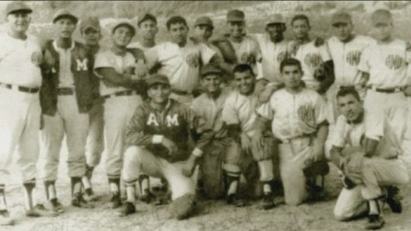 Hugo Chavez with the Army baseball team at the Military Academy in 1972