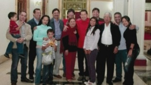 Hugo Chavez with his family