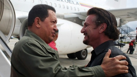 Sean Penn joined Chavez on his re-election campaign last year. The pair have been friends for several years