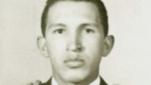 Hugo Chavez as a Second Lieutenant at the Military Academy