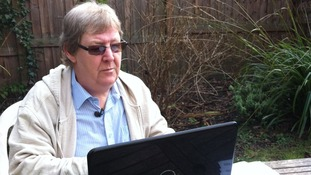 Robert at computer