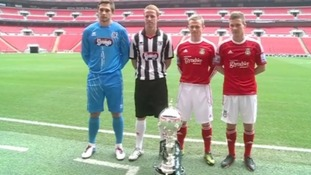Wrexham FC players visit Wembley ahead of FA Trophy Final against Grimsby