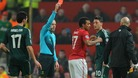 Nani being sent off
