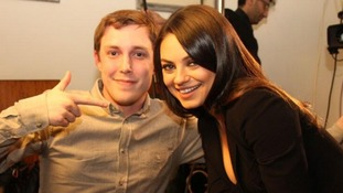 Chris Stark was nervous about actress Mila Kunis