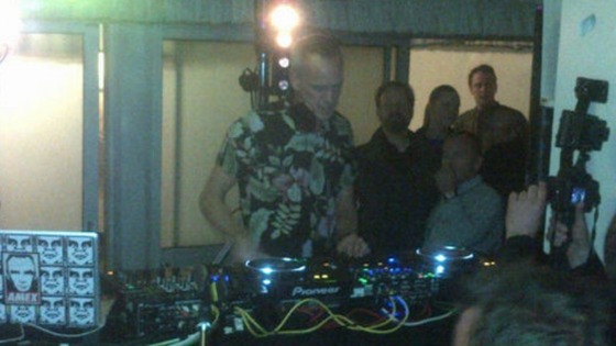 DJ Fatboy Slim playing in the House of Commons