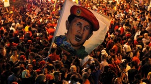 Hundreds of thousands flocked on to the streets to see the coffin of Hugo Chavez.