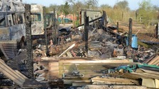 The allotments on King Street off Bishops Road in Cambridgeshire was attacked in the early hours of March 29.
