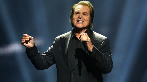 Engelbert Humperdinck performs during the Grand Final of the Eurovision Song Contest 2012