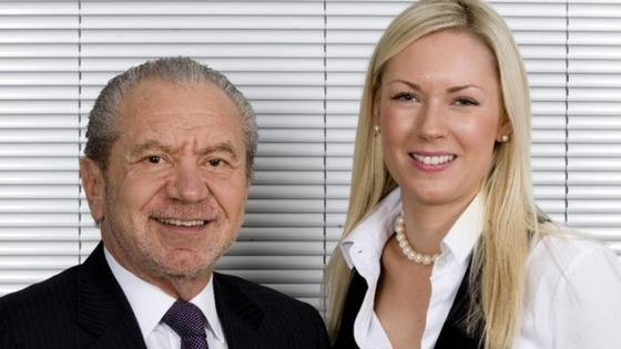 Lord Sugar with series six Apprentice winner Stella English in 2010.