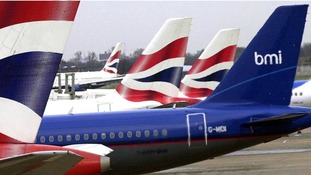 bmi and British Airways planes