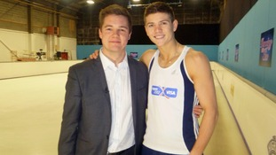 Hull boxer Luke Campbell with our reporter James Webster