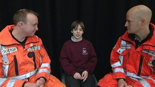 Bus-crash schoolboy thanks medics who saved his life