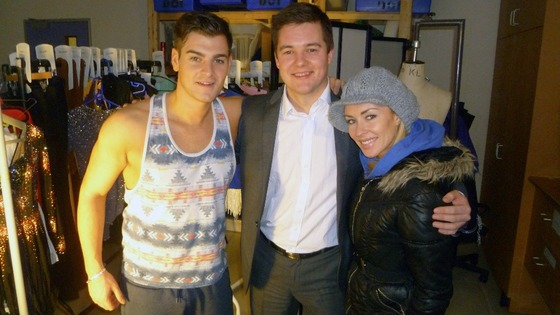 Matt Lapinskas and Brianne Delcourt with our reporter James Webster