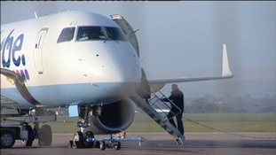 Flybe plane on ground
