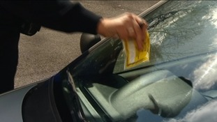 Parking ticket on windscreen