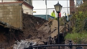 The mudslide at Gorleston near Great Yarmouth caused extensive damage