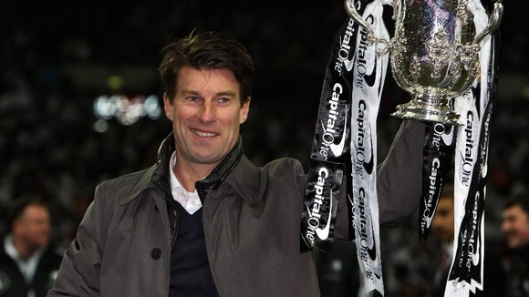 Michael Laudrup with the Capital One Cup