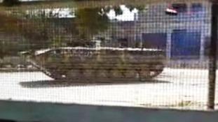 A tank in Deraa, Syria