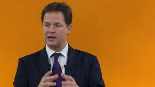 Nick Clegg at the Spring Party Conference