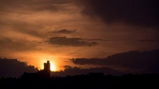 Church in the setting sun