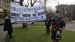 Banner with piper