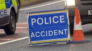 Accident road sign